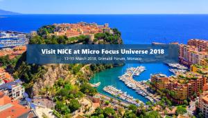 Micro Focus Universe 2018, Monaco, NiCE Sponsorship
